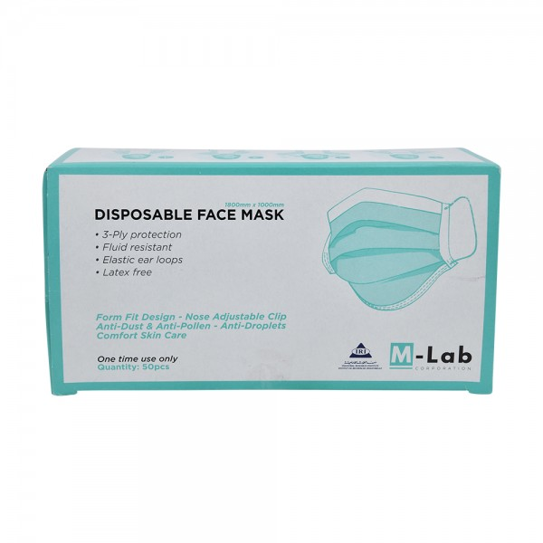 M.Lab Disposable Face Mask 3Ply - 50Pc 529305-V001 by M-Lab