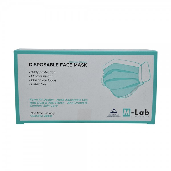 M.Lab Disposable Face Mask 3Ply - 25Pc 529306-V001 by M-Lab