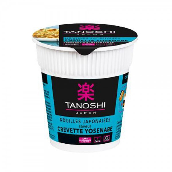 Tanoshi Cup Nouille Crevette Yosenabe - 65G 529328-V001 by Tanoshi Japan
