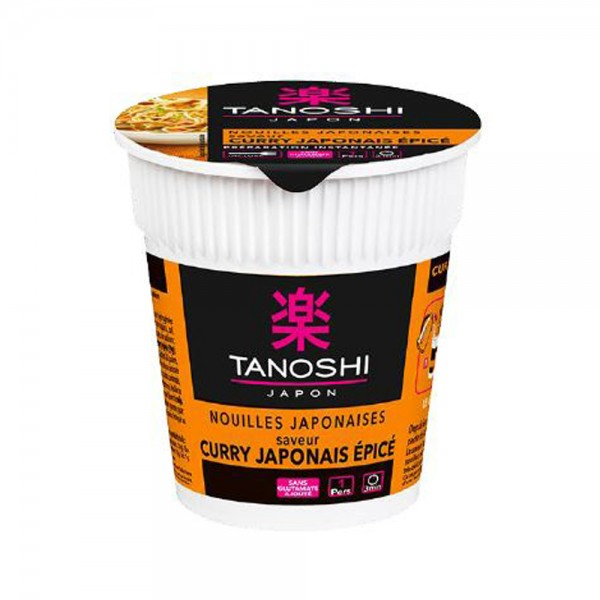Tanoshi Cup Nouille Curry Epice - 65G 529329-V001 by Tanoshi Japan