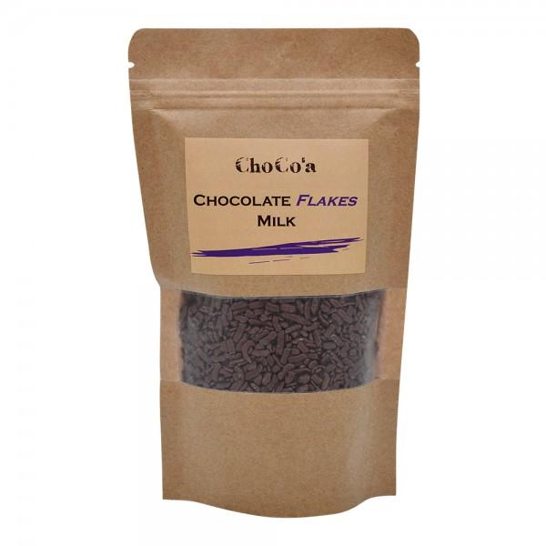 ChoCo'a Chocolate Flakes Milk 200G 529352-V001 by Choco'a Chocolate