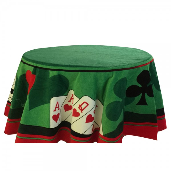 Cannon Poker Table Cloth Velour Round Printed 529490-V001 by Cannon