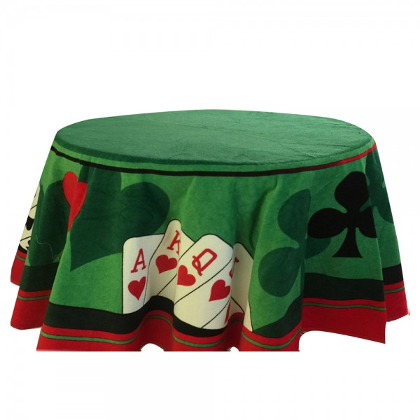 Cannon Poker Table Cloth Velour Square Printed 150X150Cm 529491-V001 by Cannon