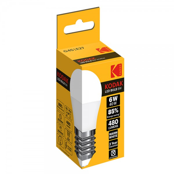 Kodak Led Bulb G45 E27 Warm - 6W 529870-V001 by Kodak