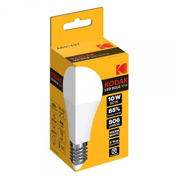 Kodak Led Bulb A60 E27 Warm - 10W 529874-V001 by Kodak