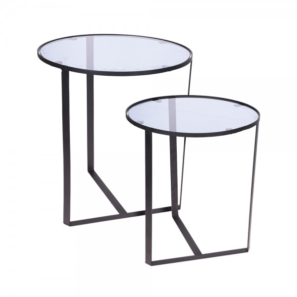 Metal Side Table Set, 2Pcs 529998-V001 by Home Collection