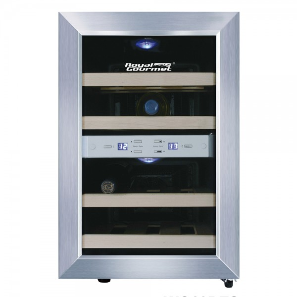 R. Gourmet Thermoelectric Wine Cooler Dual Zone Wood-12 bottles 530134-V001 by Royal Gourmet Corporation