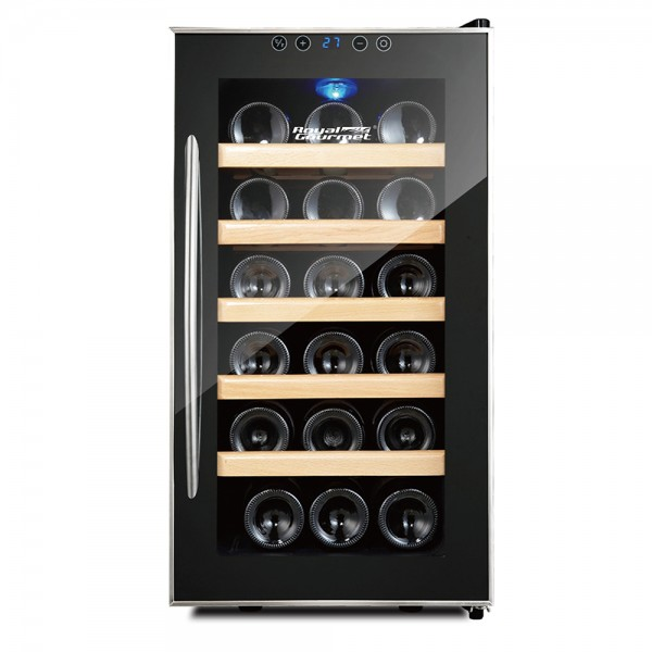 R. Gourmet Thermoelectric Wine Cooler Single Zone Wood-18 bottles 530136-V001 by Royal Gourmet Corporation