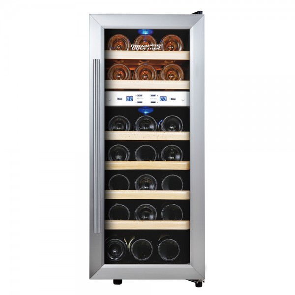 R. Gourmet Thermoelectric Wine Cooler Dual Zone Wood-21 bottles 530137-V001 by Royal Gourmet Corporation