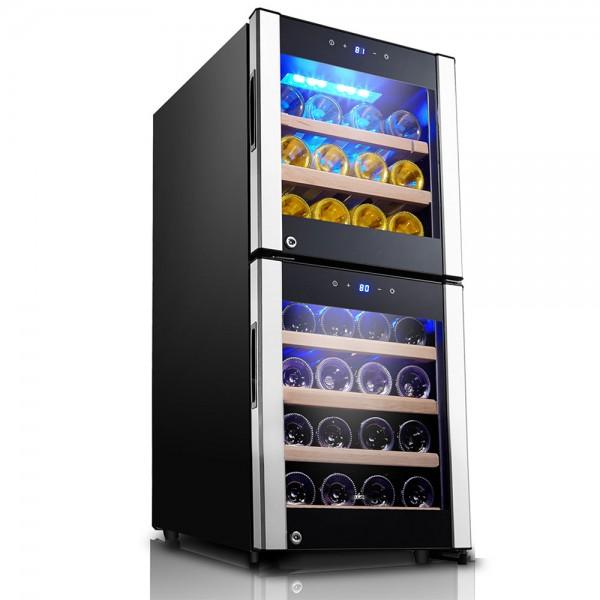 R. Gourmet Compressor Wine Cooler Dual Zone Wood-33 bottles 530138-V001 by Royal Gourmet Corporation