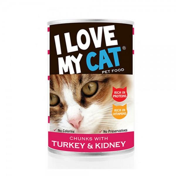 LOVE MYCAT Turkey & Kidney Chunks Cat Food 400g 530449-V001 by I Love My Cat