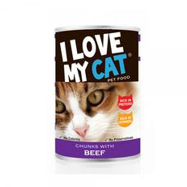 LOVE MYCAT Beef Chunks Cat Food 400g 530450-V001 by I Love My Cat