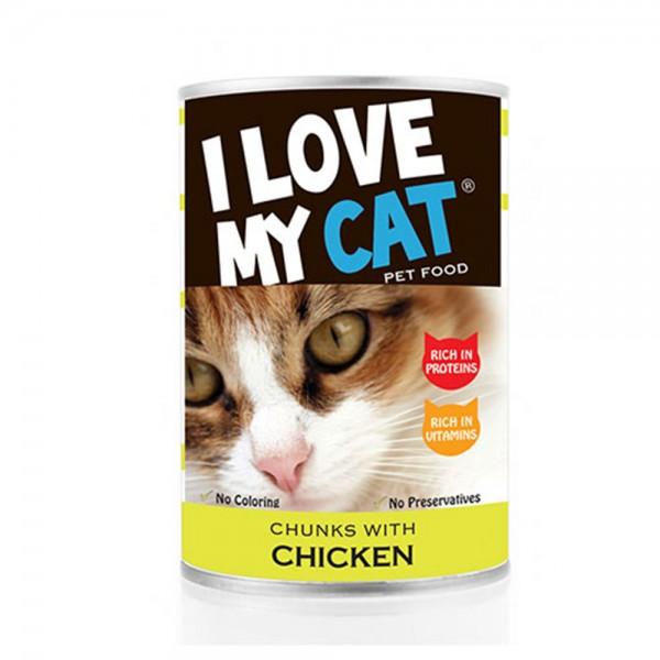LOVE MYCAT Chicken Chunks Cat Food 400g 530451-V001 by I Love My Cat