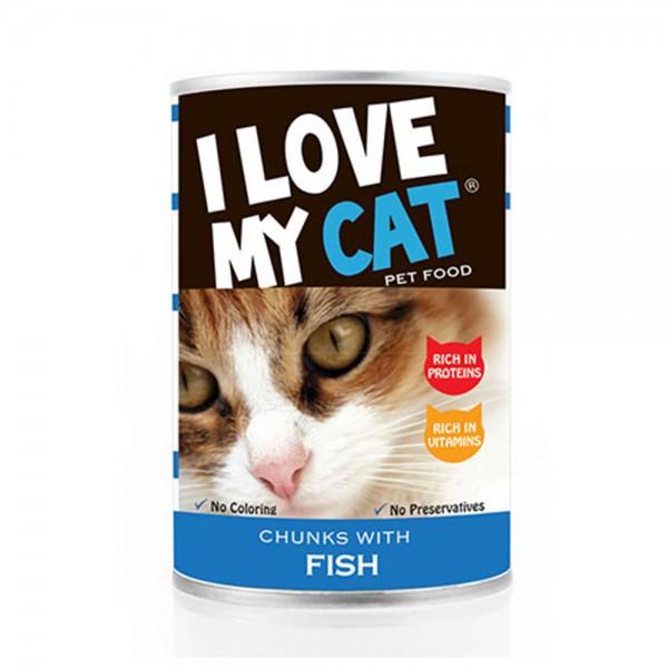LOVE MYCAT Fish Chunks Cat Food 400g 530452-V001 by I Love My Cat