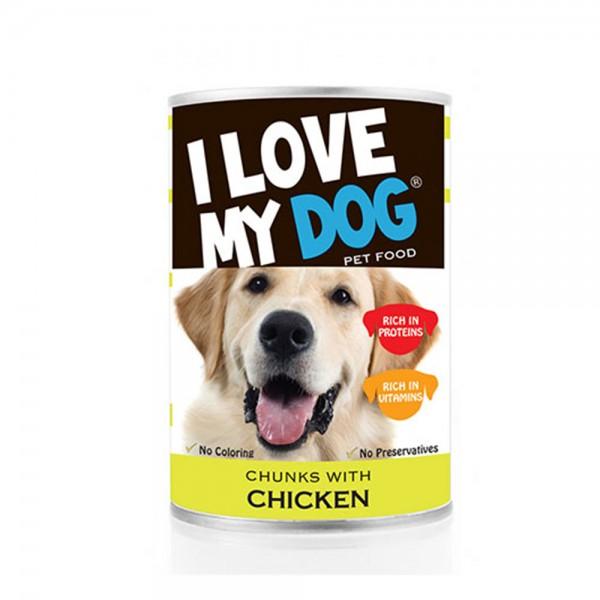 LOVE MYDOG Chicken Chunks Dog Food 400g 530455-V001 by I Love My Dog