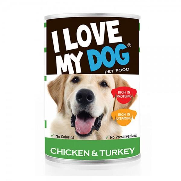 LOVE MYDOG Chicken & Turkey Dog Food 400g 530456-V001 by I Love My Dog