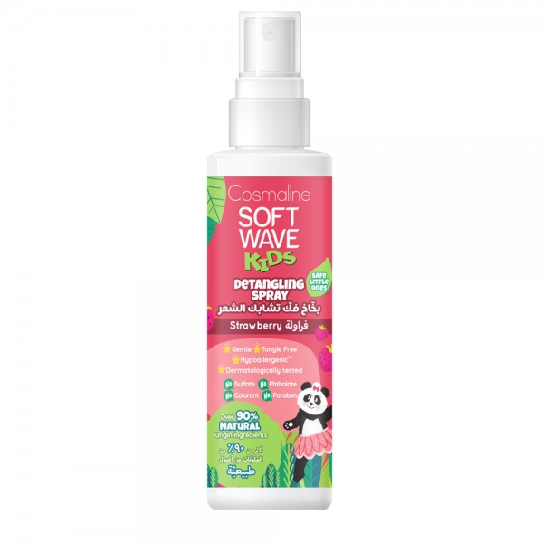 SOFT WAVE KIDS Detangling Spray Strawberry & 6 Natural Herbal Extracts 125ml 530538-V001 by Cosmaline