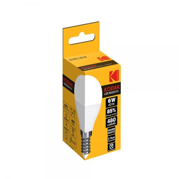 Kodak Led Bulb G45 E14 Warm - 6W 531000-V001 by Kodak