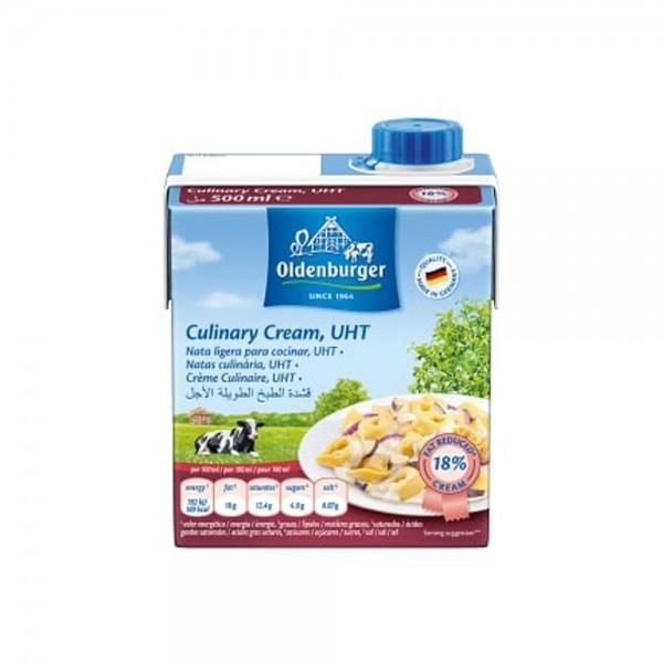 Oldenburger Culinary Cream 18% Fat, UHT 500G 531012-V001 by Oldenburger