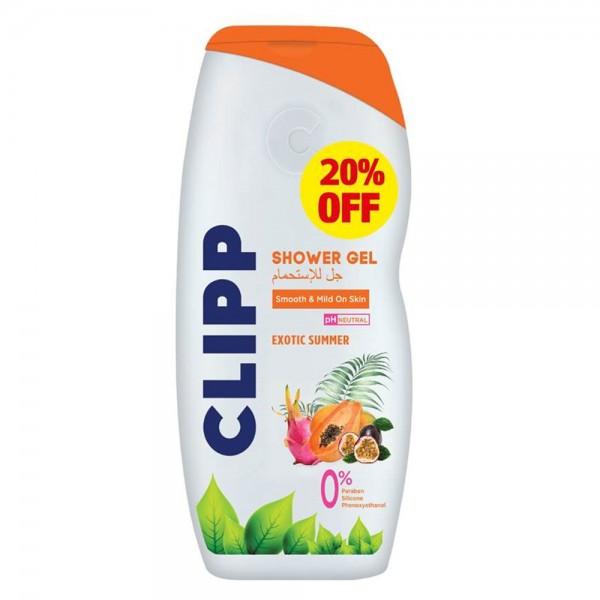 Clipp Shower Gel Exotic Summer -20Pcut - 750Ml 531015-V002 by Clipp