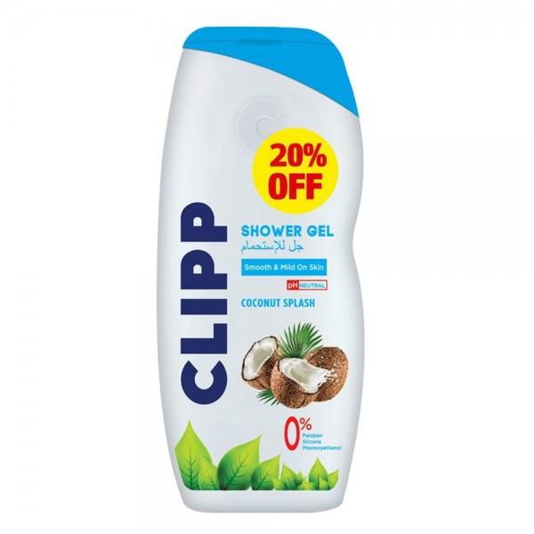 Clipp Shower Gel Coconut Splash -20Pcut - 750Ml 531018-V002 by Clipp