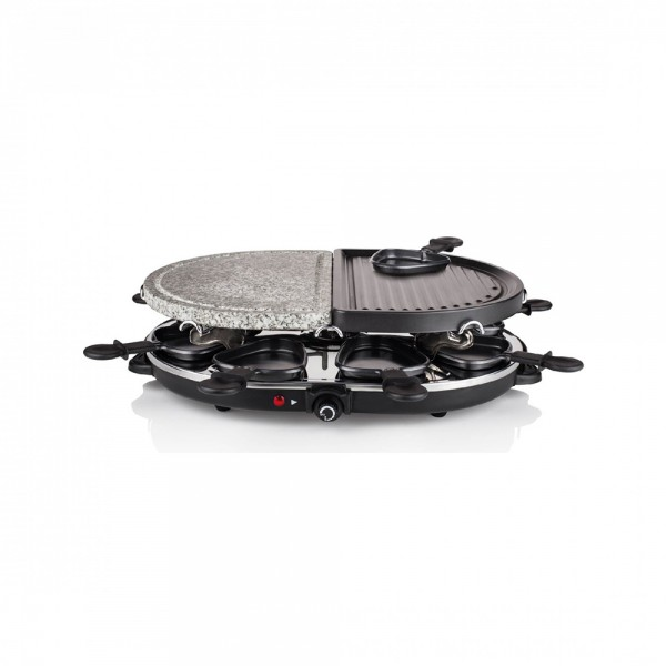 Super Chef, Raclette Stone and Metal Grill, 1200W, 8PER 531793-V001 by Super Chef
