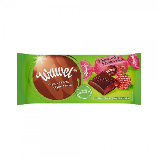 Wawel Dark Chocolate with Raspberry Jelly Filling 105g 532335-V001 by Wawel