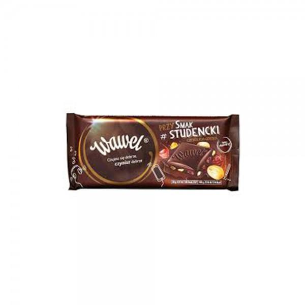 Wawel Dark Chocolate 70% Cocoa Raisings Peanuts & Jelly 100g 532339-V001 by Wawel
