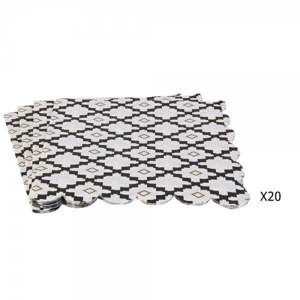 Hd Factory Disposable Napkin 33X33Cm - 20Pc 532435-V001 by Home Deco Factory