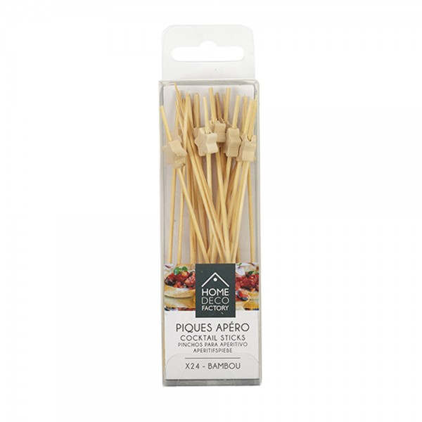 Hd Factory Cocktail Sticks Stars - 24Pc 532476-V001 by Home Deco Factory