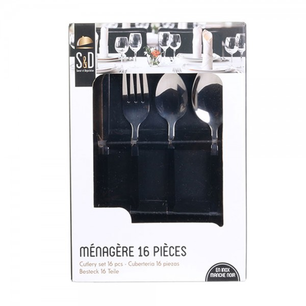 Hd Factory Stainless Steel Cutlery Set - 24Pc 532545-V001 by Home Deco Factory