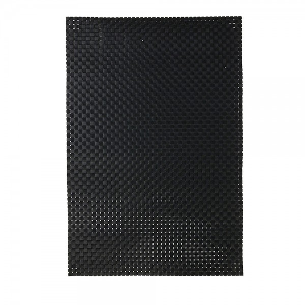 Hd Factory Silver Or Black Table Mat - 45X30Cm 532554-V001 by Home Deco Factory