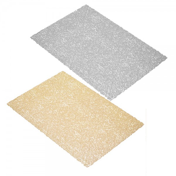 Hd Factory Gold Or Silver Table Mat - 45X30Cm 532555-V001 by Home Deco Factory