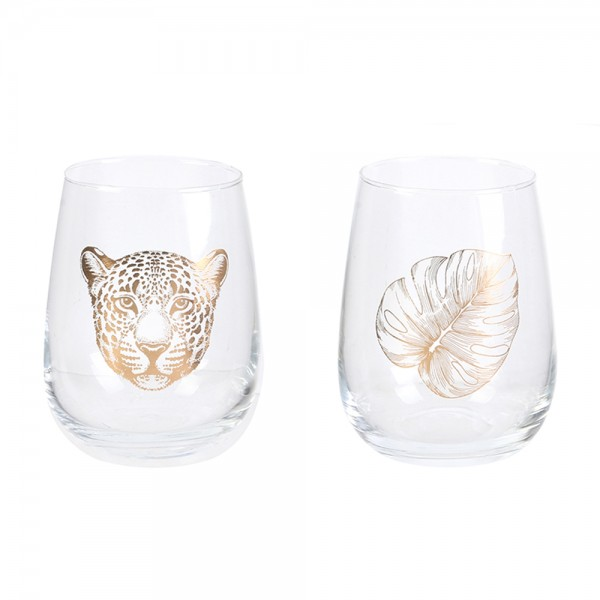 Hd Factory Glass 50Cl - 2Pc 532559-V001 by Home Deco Factory