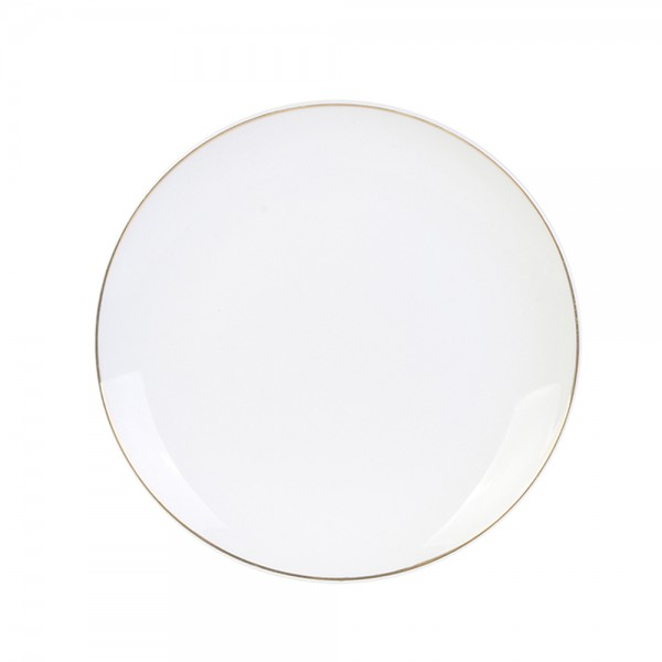 Hd Factory Gold Rim Plate 20Cm - 1Pc 532561-V001 by Home Deco Factory