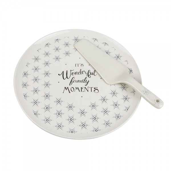 Hd Factory Pie Dish With Pie Slice Set - 2Pc 532568-V001 by Home Deco Factory