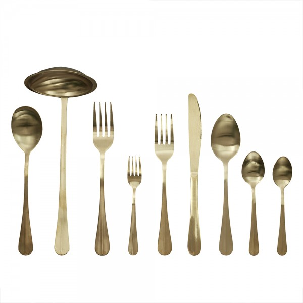 Hd Factory Golden Cutlery Set - 39Pc 532573-V001 by Home Deco Factory