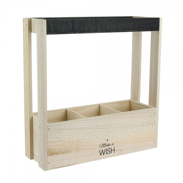 Hd Factory Wooden 3 Bottle Wine Crate - 1Pc 532592-V001 by Home Deco Factory