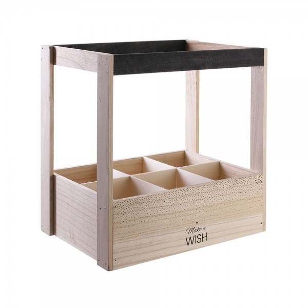 Hd Factory Wooden 6 Bottle Wine Crate - 1Pc 532593-V001 by Home Deco Factory
