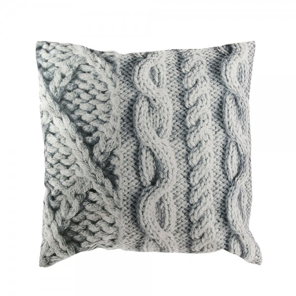 Hd Factory Cushion+Knitting Printing - 1Pc 532615-V001 by Home Deco Factory