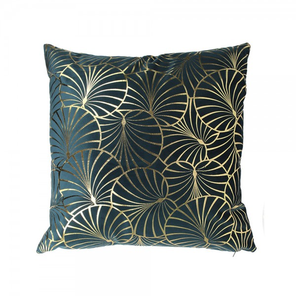 Hd Factory Velvet Cushion With Gold Print - 1Pc 532626-V001 by Home Deco Factory