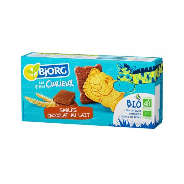 Bjorg Biscuits Bio Sablés Chocolat Au Lait Les P'tits Curieux 192G 532641-V001 by Bjorg