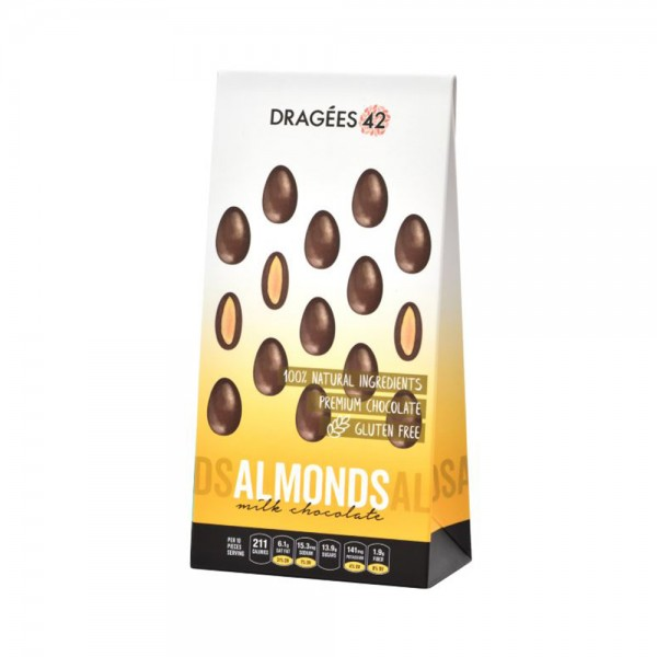 Dragees 42 Milk Chocolate Almonds - 150G 533305-V001 by Dragées 42