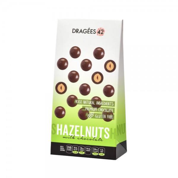 Dragees 42 Milk Chocolate Hazelnuts - 150G 533307-V001 by Dragées 42