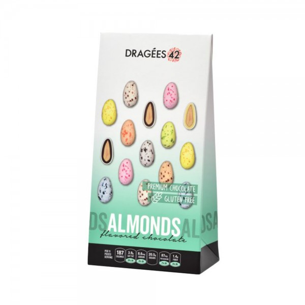 Dragees 42 Flavored Chocolate Almonds - 150G 533309-V001 by Dragées 42