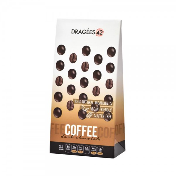 Dragees 42 Dark Chocolate Coffee Beans - 150G 533310-V001 by Dragées 42
