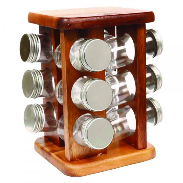 SPICE JARS W. WOODEN STAND 533371-V001 by Billi