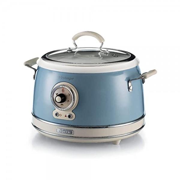 Ariete Vintage Rice Cooker Blue Non Stick 650W 534802-V001 by Ariete