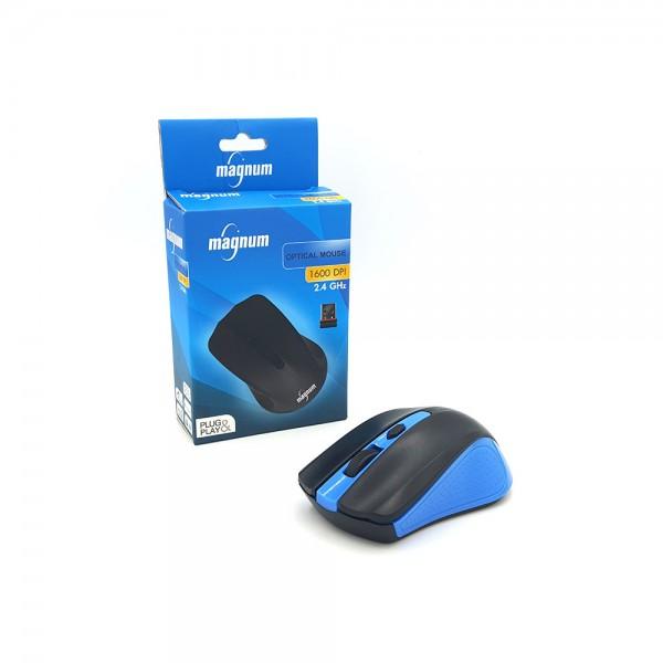 WIRELESS OPTICAL MOUSE 1600DPI PLUG+PLAY BLUE 534890-V001 by Magnum Led