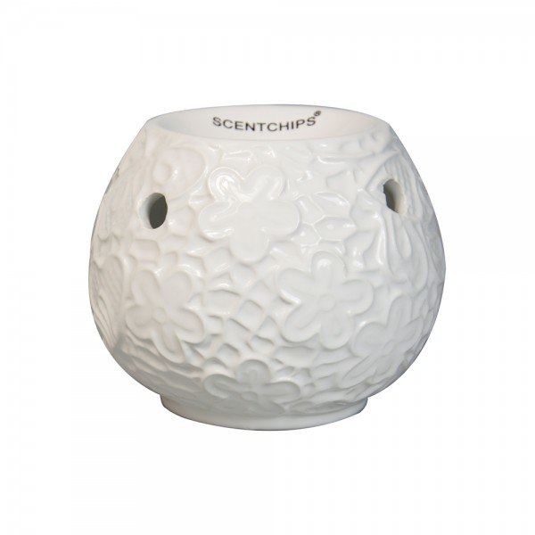 Scentchips Burner Bowl Leafs White 534945-V001 by Scentchips